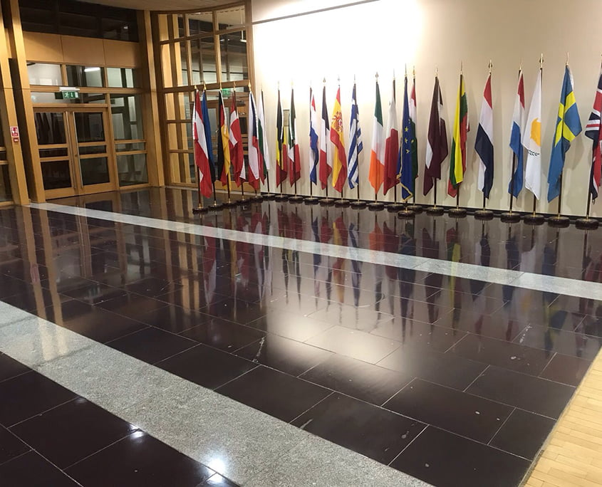 Marble floors polished European Commission - P Mac Heritage Contractors