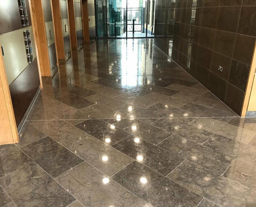Metropolitan Building marble floor polished and sealed - P Mac Heritage Contractors
